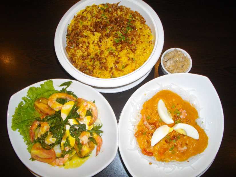 calcag, pancit luglug and PAKO salad.