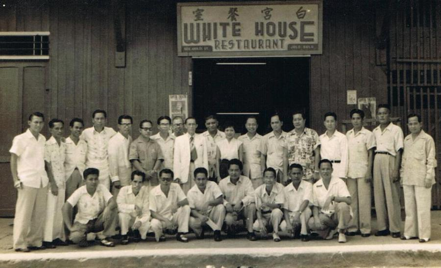 Judge Macapanton Abbas, Sr. (in white blazer with tie) with the legal luminaries of Sulu, ca. 1950s