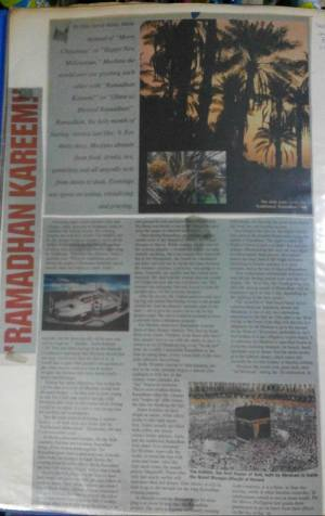My Ramadhan article published full-page in the Philippine Post, Jan. 8, 2000