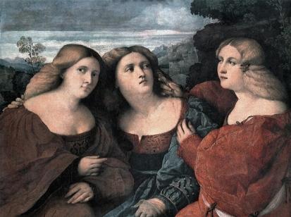 The Death of Lucretia (1518) by Lucas Cranach the Elder Renaissance beauty